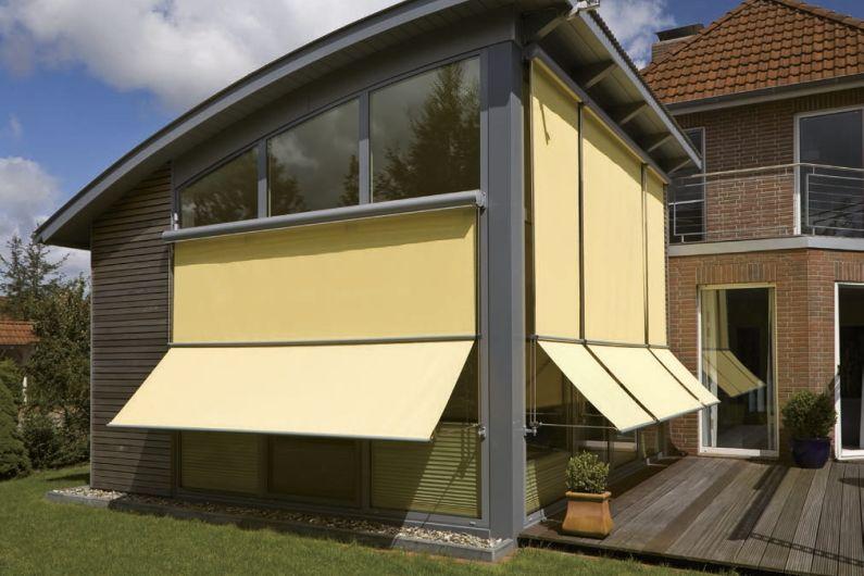 MHZ Edelstahl-Fassadenmarkise Techno