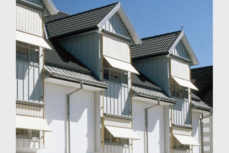 MHZ Profilrohr-Fassadenmarkise Vertica