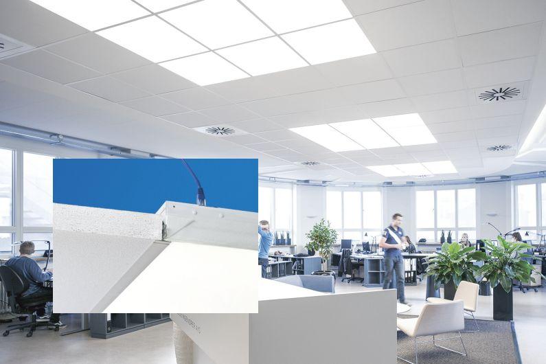 Ecophon Soundlight Comfort Ceiling A Detail LED